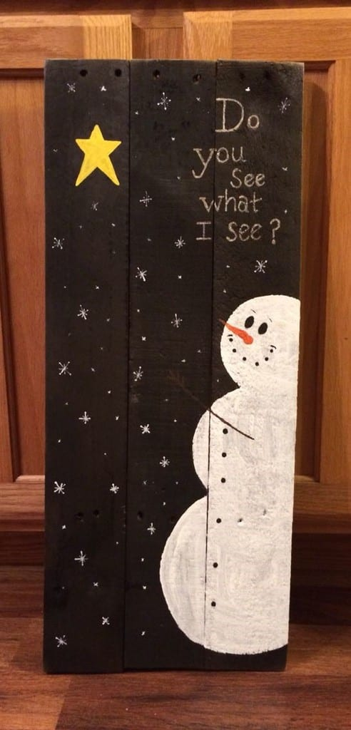 Simple Painting On A Pallet