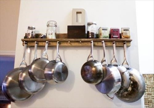 Tea And Coffee Wooden Shelves