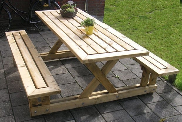 The Easy Step In Picnic Table
