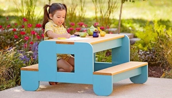 The Tiny Toddler Picnic Table