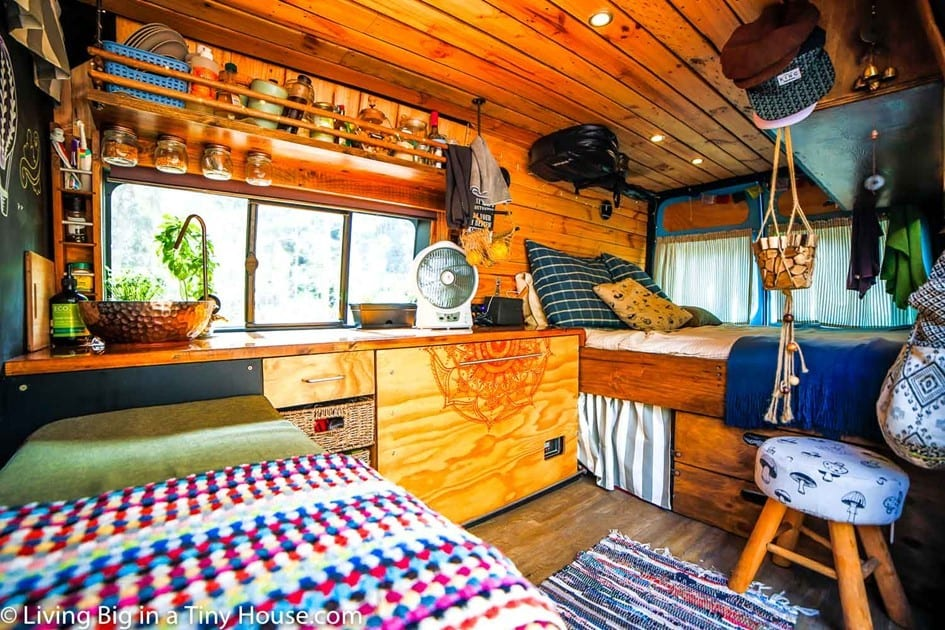 Van Makeover Into Tiny House On Wheels