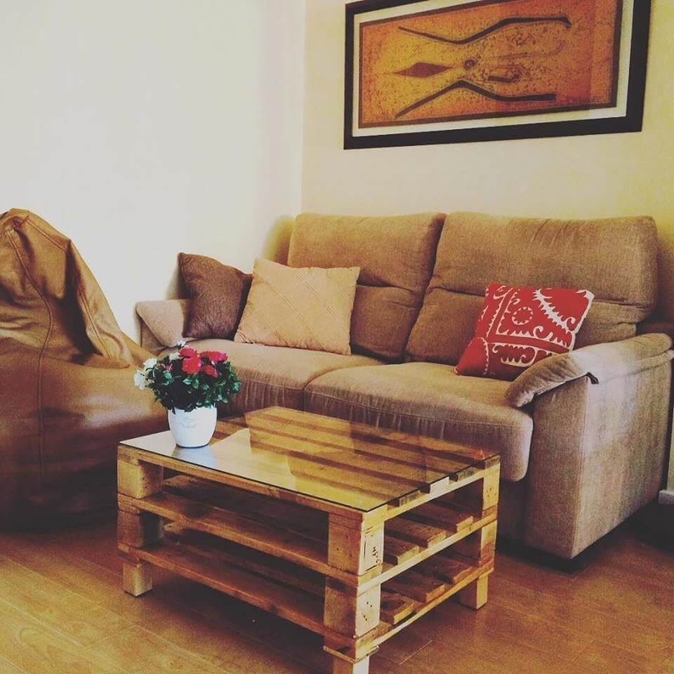 2 Tiered Pallet Coffee Table