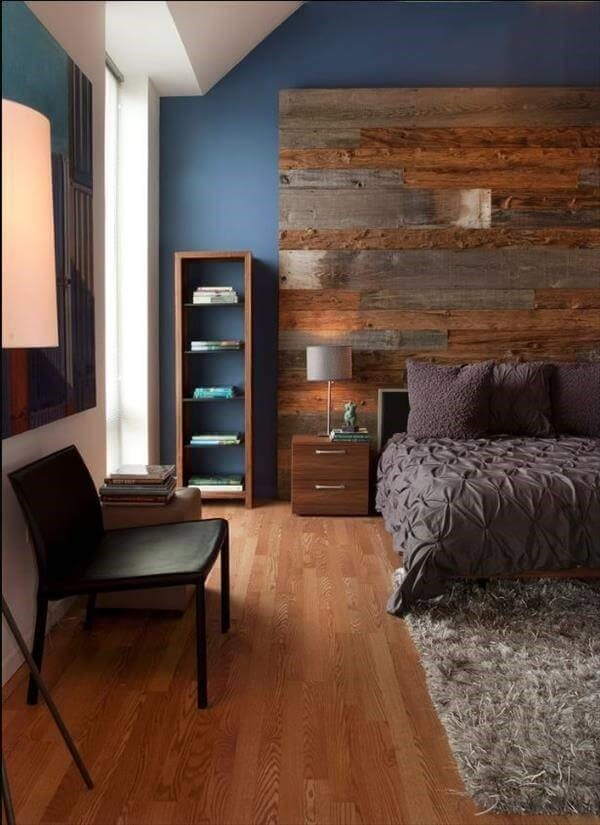 Almost An Entire Wall Pallet Wood Headboard