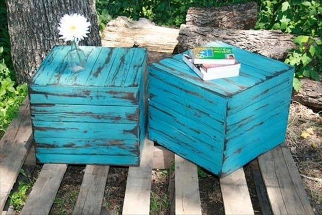 Bright And Colorful Pallet Nightstand
