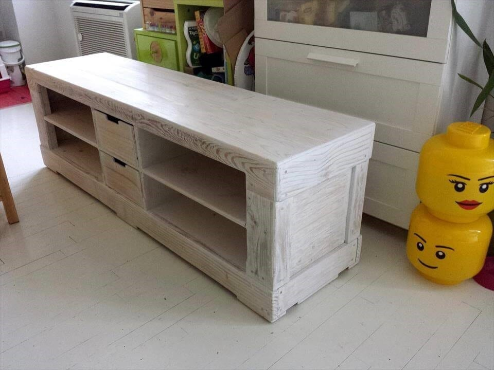 Cabinet And Pallet Tv Stand