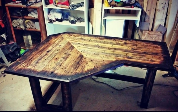 Corner Table Made Of Pallets