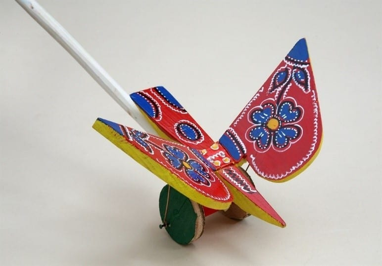 Croatian Wooden Toys Butterfly Or Bird Clappers