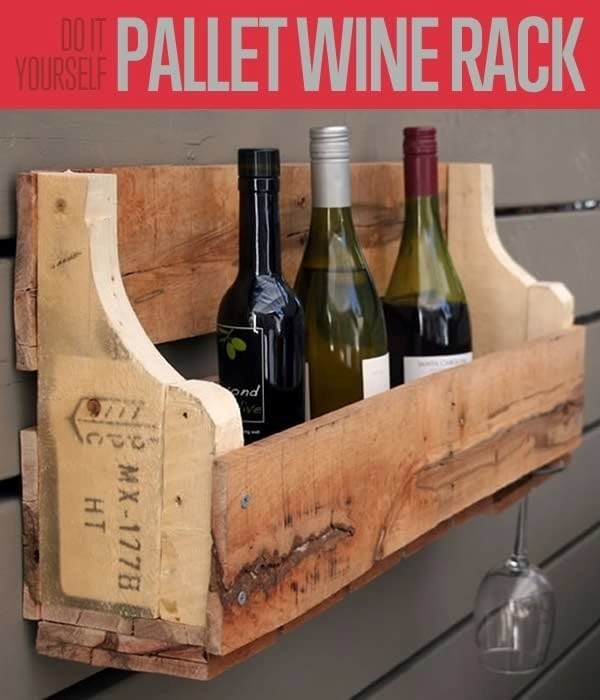 Diy Home Projects Pallet Wine Rack
