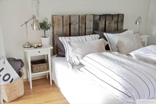 Double Bed Palled Headboard Inspiration