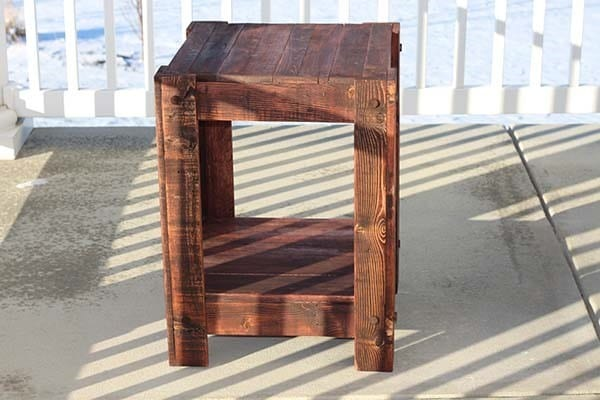 End Table Pallet Wood