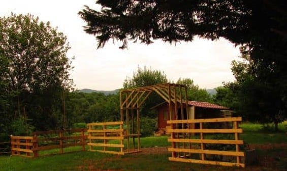 Entrance And Fence From Reclaimed Pallet Wood