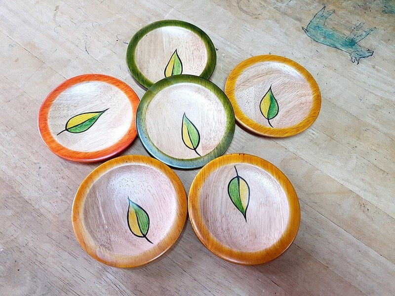 Handmade Coasters Are Becoming Very Popular In The Art Of Making Indian Wooden Lacquer Toys