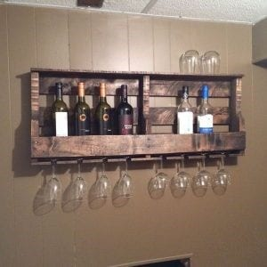 Hometalk Pallet Wine Rack Diy Design