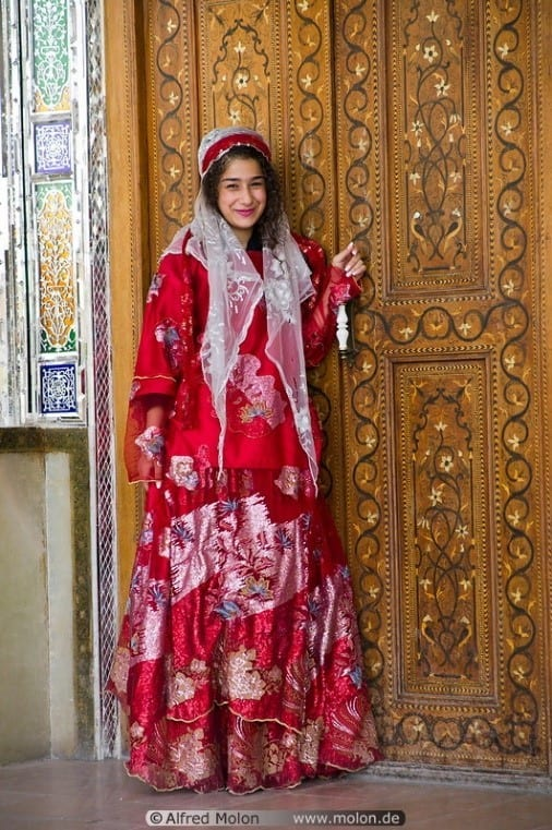 Iranian Girl In Traditional Dress