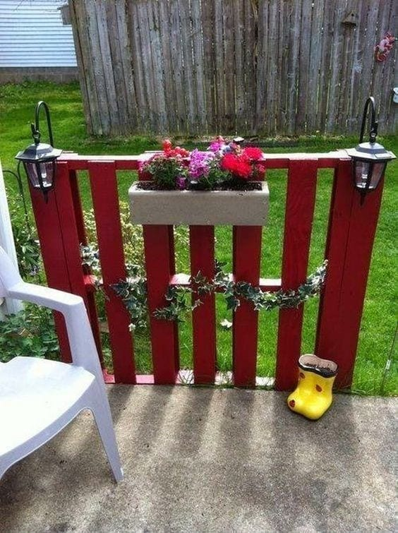 Lovely Little Red Fence