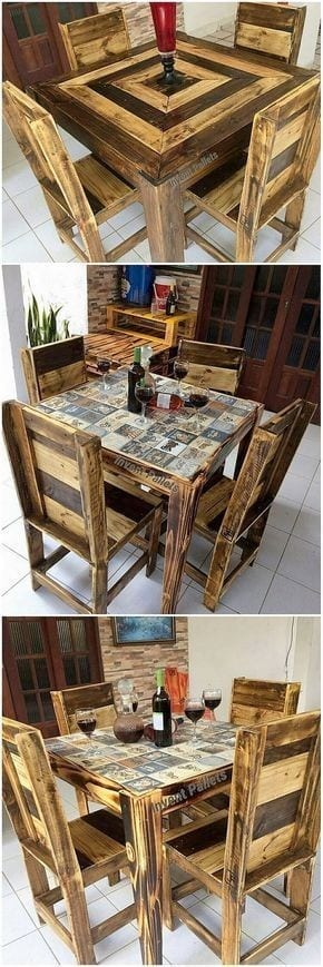 Lovely Pallet Wood Table