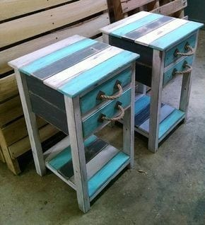Multicolored Pallet Nightstand