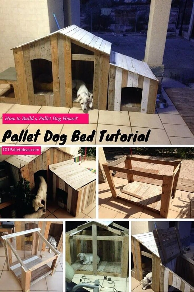 Pallet Dog Bed And House