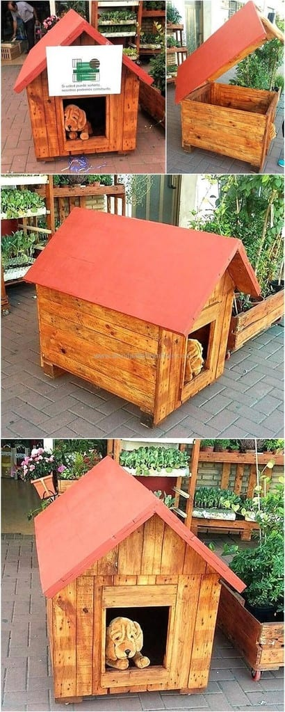 Pallet Dog House For Small To Medium Sized Dogs