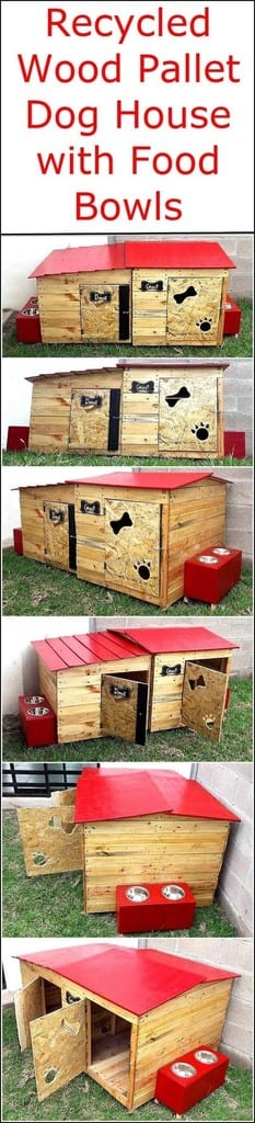 Pallet Dog House With Doors