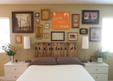 Pallet Headboard By Cathey With An E
