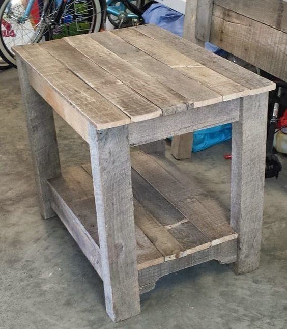Pallet Table Night Stand