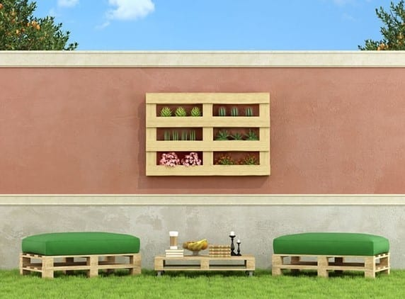 Pallet Wood Seating Area