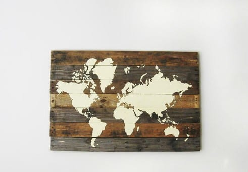 Pallet World Map By The Merry Thought