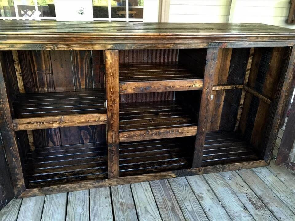 Rustic Styled Pallet Tv Stand