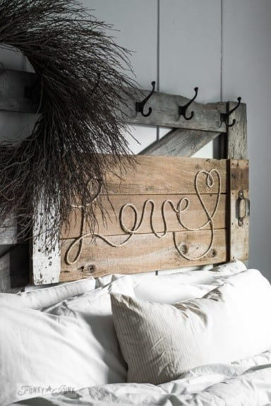 Rustic Wood And Twine Sign