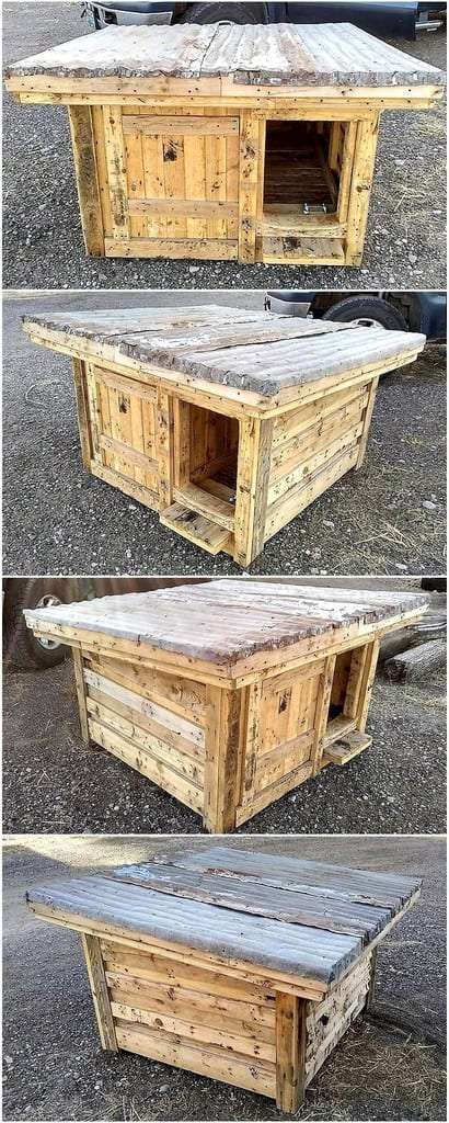 Simple Pallet Dog House