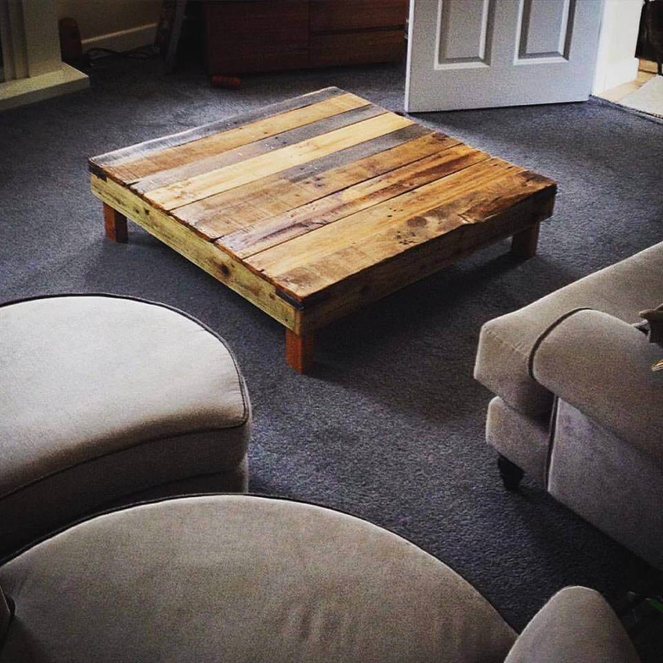 Square Pallet Table With Short Legs