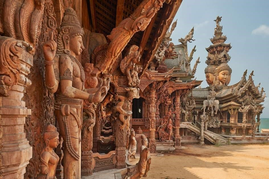 The Silent Wisdom Of Wood Carving The Sanctuary Of Truth