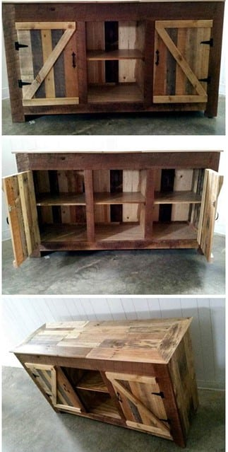 Upcycled Entertainment Center