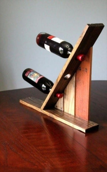 Upcycled Pallet Wine Rack