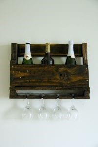 Upcycled Wine Rack Made Of Pallet