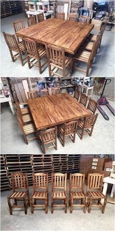 Very Large Pallet Dining Table