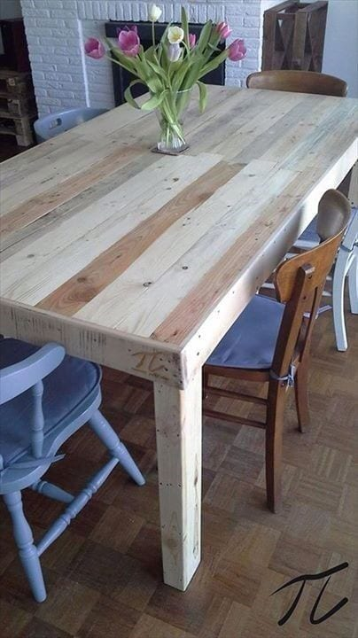 Very Large Pallet Dinner Table