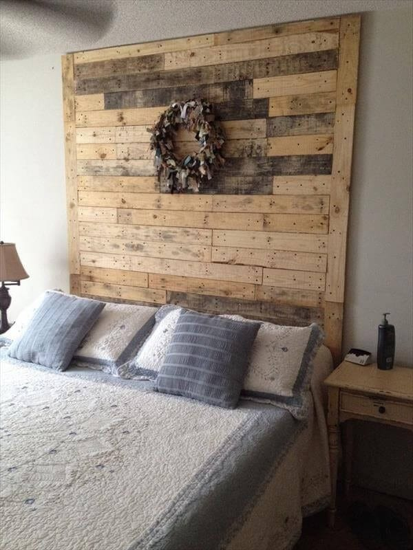 Very Tall Headboard From Pallet Wood