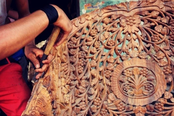 Walnut Wood Carving In Kashmir India