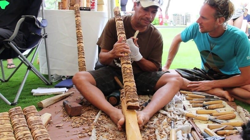 Willy In The Process Of Creating Amazing Tiki Carvings In Hawaii