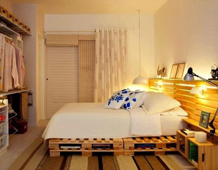 Wooden Headboard And Bed Frame