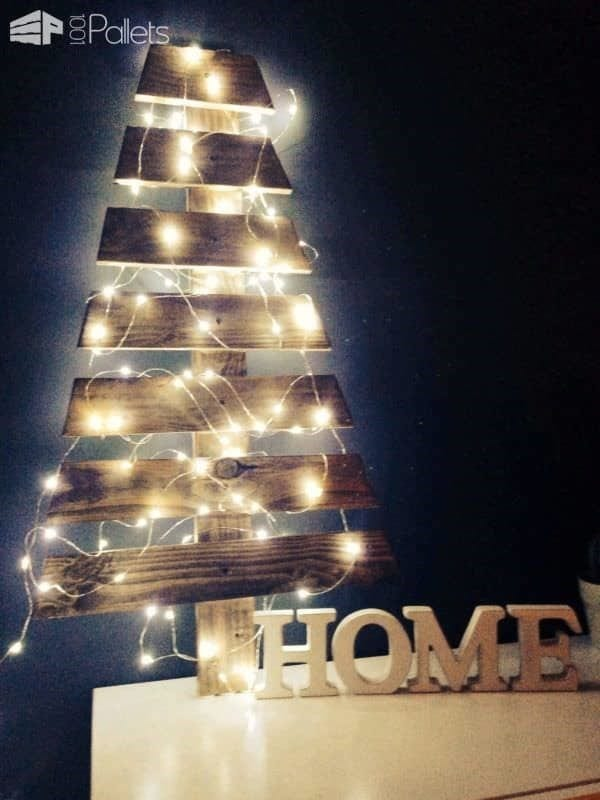 Wooden Pallet Christmas Tree 17