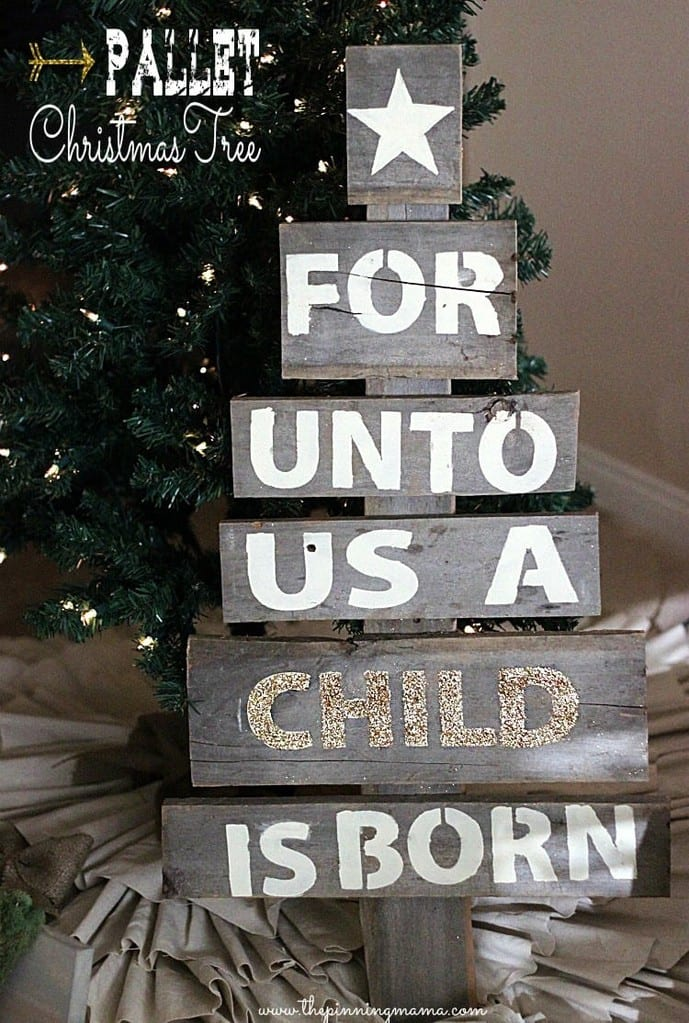 Wooden Pallet Christmas Tree 8