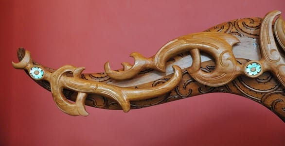 Modern Day Version Of The Traditional Maori Woodcarving