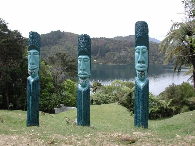Pouwhenua Carved Land Posts