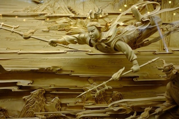 The Fine Detail Of Traditional Chinese Dongyang Wood Carving Technique