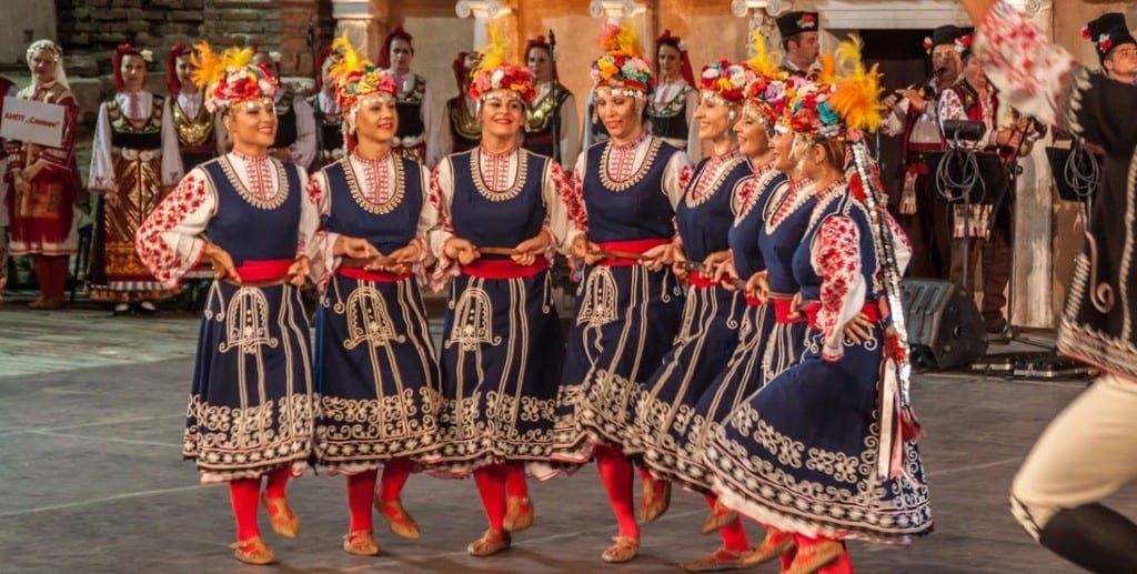 Traditional Bulgarian Folk Style Dances And Clothing