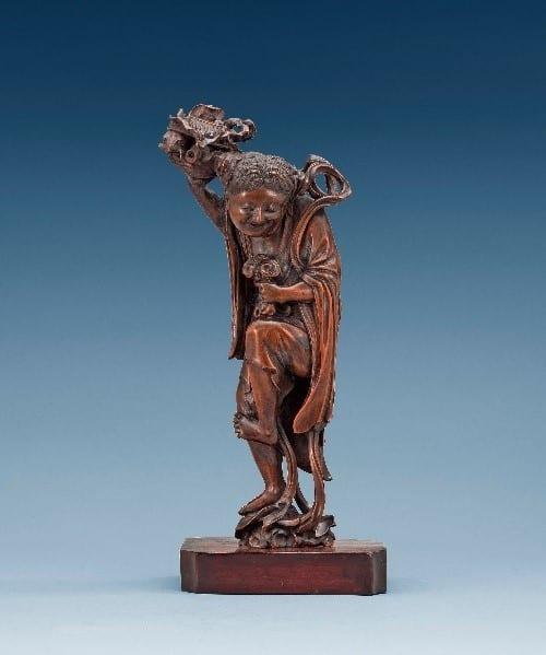 Wooden Sculpture Dating Back To The Qing Dynasty